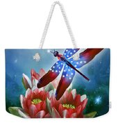 Star Spangled Dragonfly Weekender Tote Bag