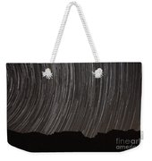 Star Trails Above A Valley Weekender Tote Bag by Amin Jamshidi