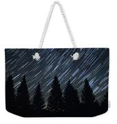 Star Trails And Pine Trees Weekender Tote Bag