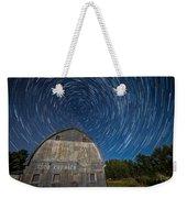 Star Trails Over Barn Weekender Tote Bag