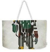 Star Wars Inspired Boba Fett Typography Artwork Weekender Tote Bag