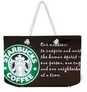 Starbucks Mission Weekender Tote Bag