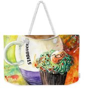 Starbucks Mug And Easter Cupcake Weekender Tote Bag