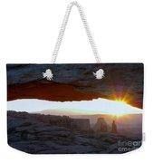Starburst At Mesa Arch Weekender Tote Bag