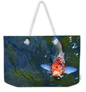 Stare Down With A Koi Weekender Tote Bag