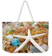 Starfish Art Prints Shells Agates Coastal Beach Weekender Tote Bag