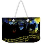 Staring At The Starry Night In The Moma Weekender Tote Bag