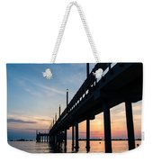 Staring At The Sun - Sunrise On The Beach Weekender Tote Bag