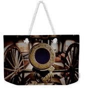 Staring Down The Barrel Of A Canon Weekender Tote Bag