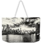 Starlight Over The American Airlines Arena Weekender Tote Bag