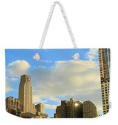Manhattan Skyline Here Comes The Sun Weekender Tote Bag by Dan Sproul