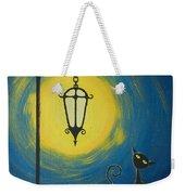 Starry Cat Night Weekender Tote Bag