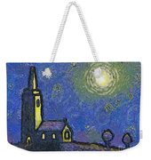Starry Church Weekender Tote Bag by Pixel Chimp