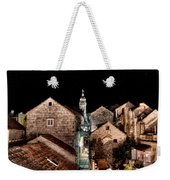 Starry Night Above The Rooftops Of Korcula Weekender Tote Bag