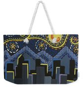 Starry Night Cityscape Weekender Tote Bag