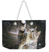Starry Night Kitty Style - Featured  In Comfortable Art Group Weekender Tote Bag