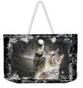 Starry Night Kitty Style Splash Weekender Tote Bag