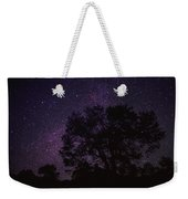 Starry Sky With Silhouetted Oak Tree Weekender Tote Bag