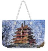 Starry Starry Pagoda Night Weekender Tote Bag