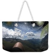 Stars And Planets In A Valley Weekender Tote Bag