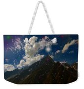 Stars And Planets On Mont Blanc Weekender Tote Bag