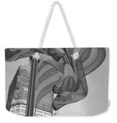 Stars And Stripes And 1 W T C In Black And White Weekender Tote Bag