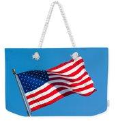 Stars And Stripes Waving Weekender Tote Bag