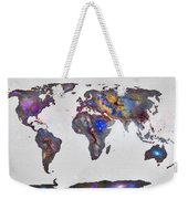 Stars World Map Weekender Tote Bag