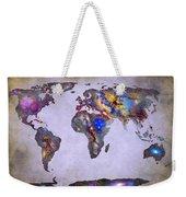 Stars World Map Space Weekender Tote Bag
