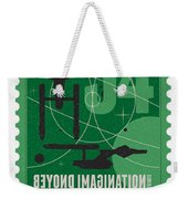 Starschips 34-poststamp - Uss Enterprise Weekender Tote Bag by Chungkong Art