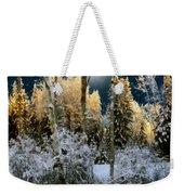 Starshine On A Snowy Wood Weekender Tote Bag