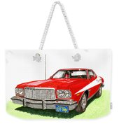 Starsky Hutch 1974 Ford Gran Torino Sport Weekender Tote Bag