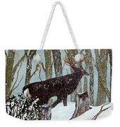 Startled Buck - White Tail Deer Weekender Tote Bag