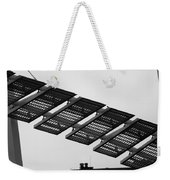 Starway To... In Black And White Weekender Tote Bag