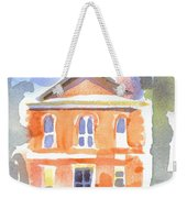 Stately Courthouse With Police Car Weekender Tote Bag