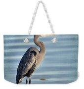 Stately-great Blue Heron Weekender Tote Bag