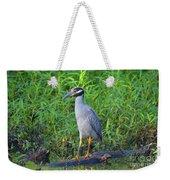 Stately Heron Weekender Tote Bag