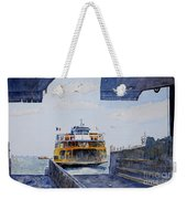Staten Island Ferry Docking Weekender Tote Bag by Anthony Butera