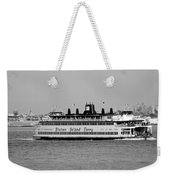 Staten Island Ferry In Black And White Weekender Tote Bag