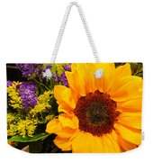 Statice And Sunflower Weekender Tote Bag