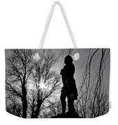 Statue At Dusk Weekender Tote Bag