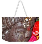Statue At The Vishwanath Temple - India Weekender Tote Bag