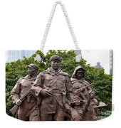 Statue Depicting Glory Of Chinese Communist Party Shanghai China Weekender Tote Bag
