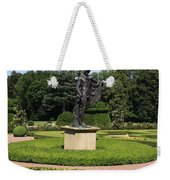Statue In A Boxwood Garden Weekender Tote Bag