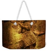 Statue Of Angel Weekender Tote Bag by Amanda Elwell