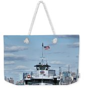 Statue Of Liberty Ferry Weekender Tote Bag