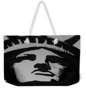 Statue Of Liberty In Black And White Weekender Tote Bag