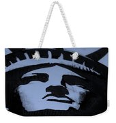 Statue Of Liberty In Dark Cyan Weekender Tote Bag