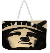 Statue Of Liberty In Dark Sepia Weekender Tote Bag