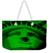Statue Of Liberty In Green Weekender Tote Bag